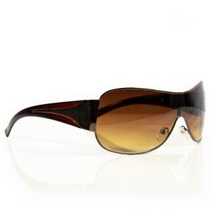 Oversized Style Fashion Shield Sunglasses #00217